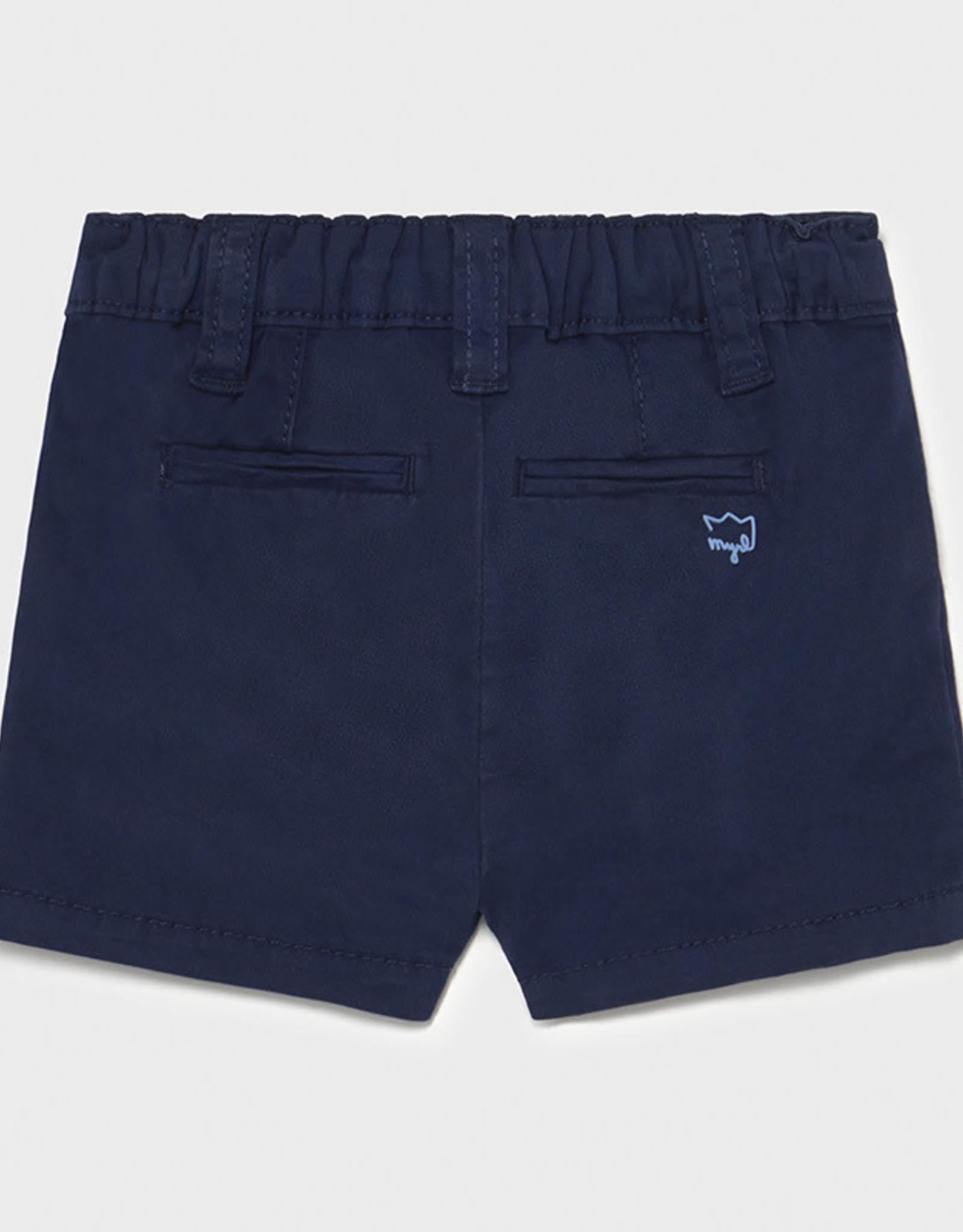Mayoral Twill Shorts, Navy