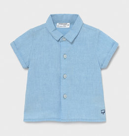 Mayoral Short Sleeve Shirt, Light Blue