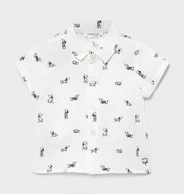 Mayoral Short Sleeve Shirt, Dog Print