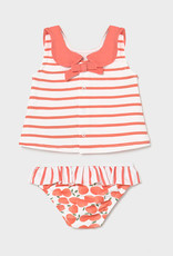Mayoral Bathing Suit Set with Hat, Peach
