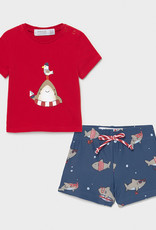 Mayoral Bathing Suit Set with Tee Shirt