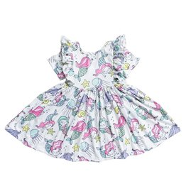 Mila & Rose Mermaid Friends Ruffle Twirl Dress, Short Sleeve