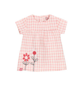 Boboli Pink Checked Dress w/ Diaper Cover