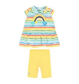 Boboli Shirt and Leggings Set, Striped, Rainbow