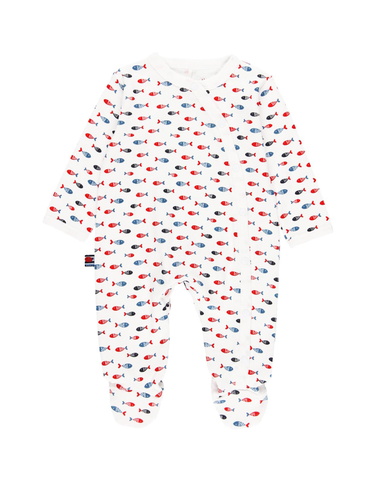 Boboli Footie with Red and Blue Fish