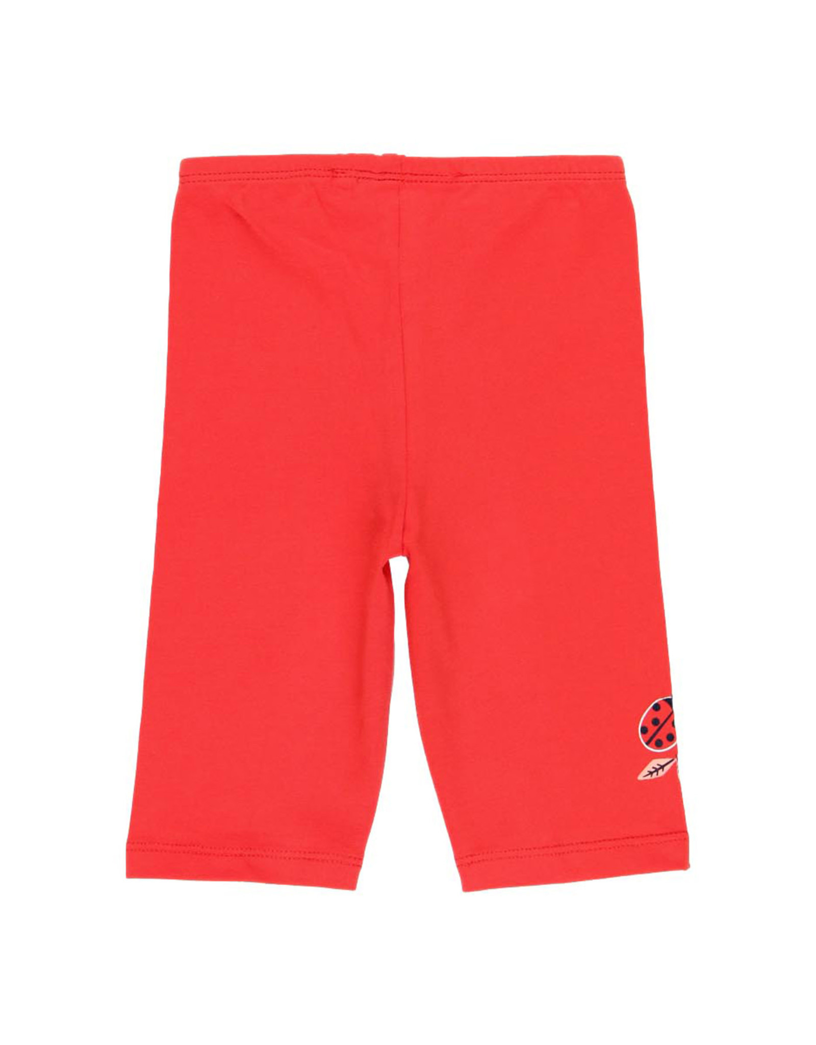 Boboli Red Capri Leggings, Ladybug Detail
