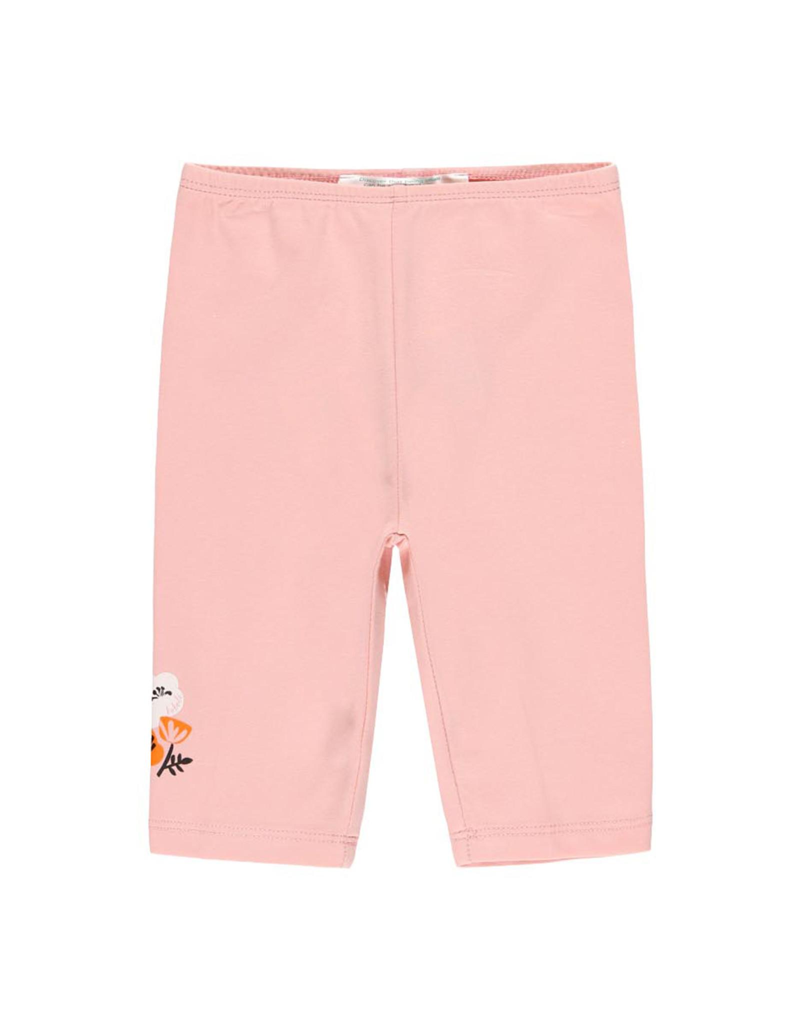 Boboli Pink Capri Leggings, Flower Detail