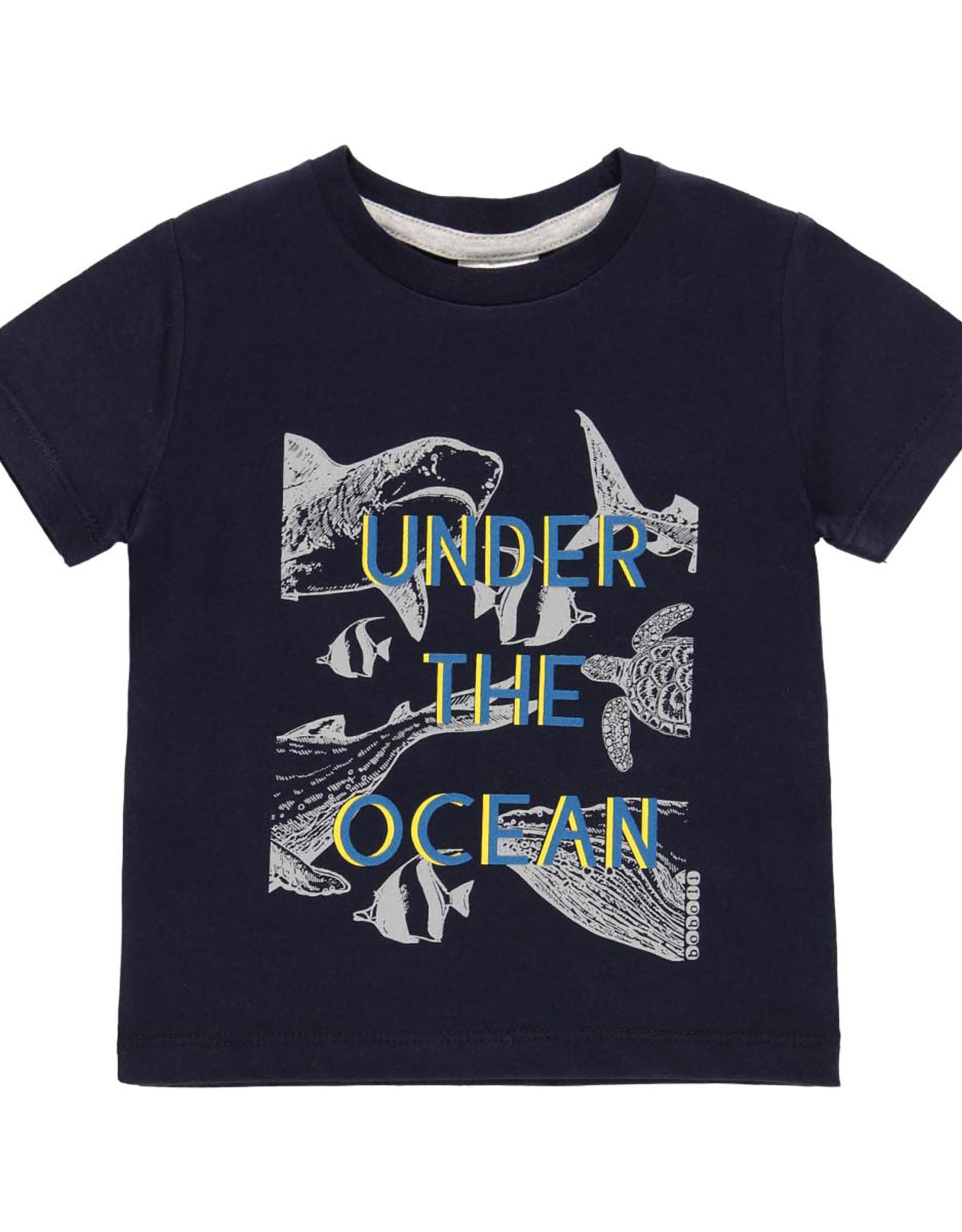 Boboli Tee Shirt, Under the Ocean, Sharks