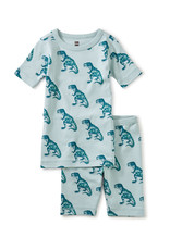 Tea Printed Shortie Pajamas, Dinosaurs