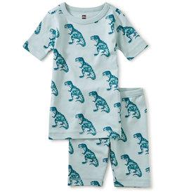 Tea Printed Shortie Pajamas, Dinosaurs