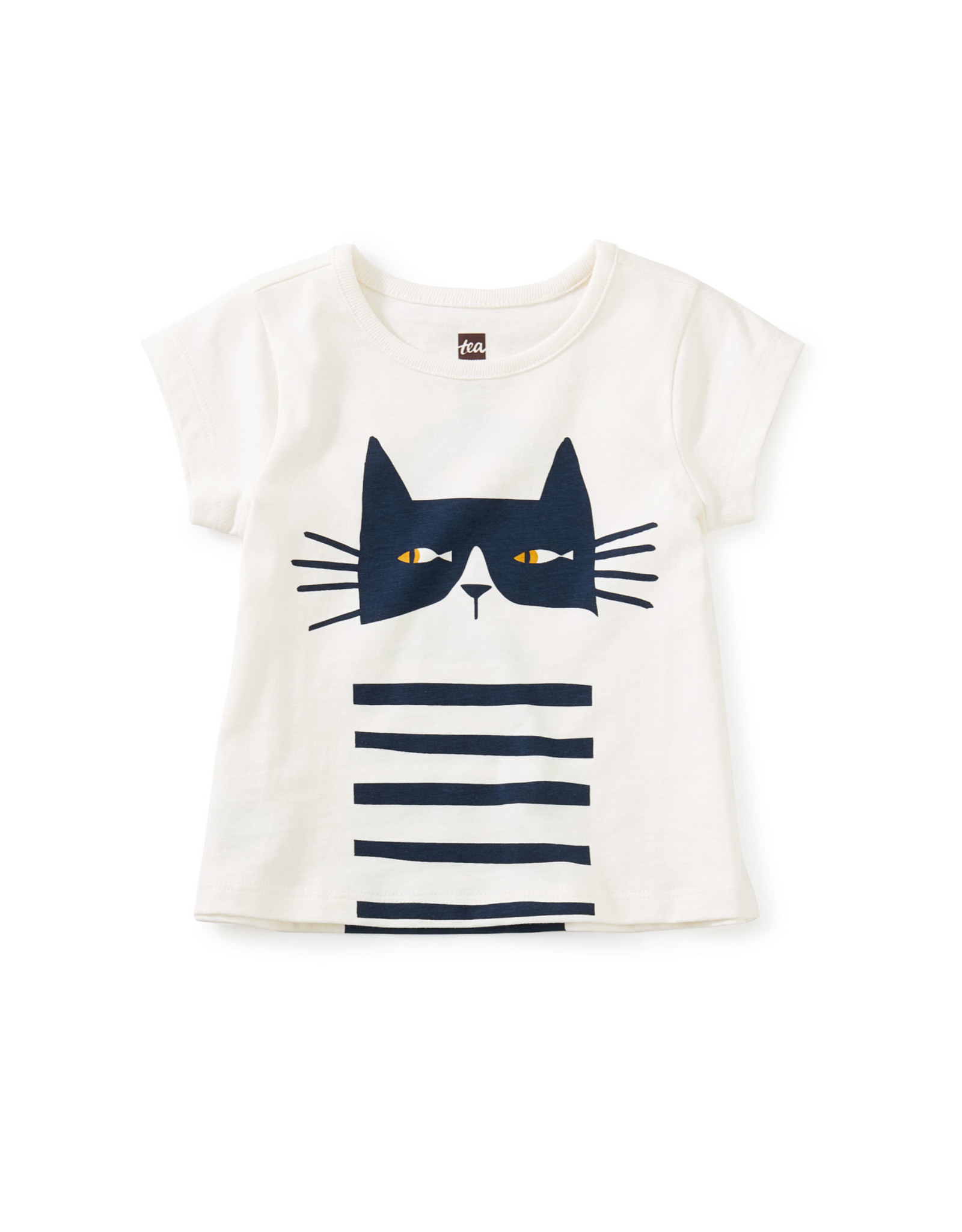 Tea Cat Fish Double Sided Graphic Baby Tee