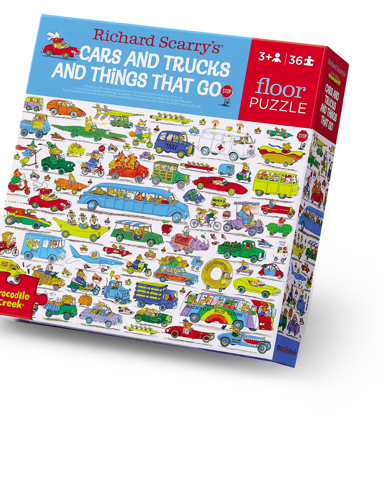 Crocodile Creek Puzzle 36 pc Puzzle, Cars & Trucks and Things that Go