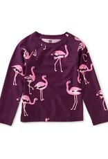 Tea Long Sleeve Rash Guard, Flamingo Flamboyance