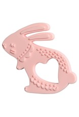 Manhattan Toy Silicone Bunny Teether, Pink
