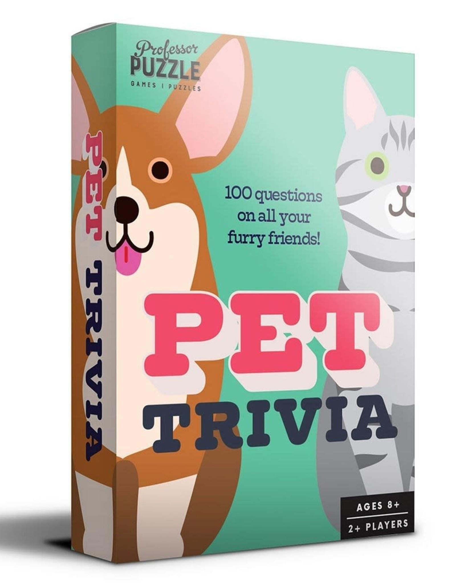 Professor Puzzle Pet Trivia