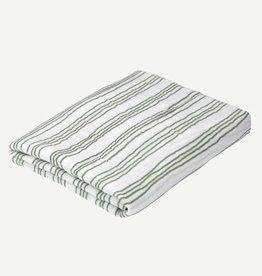 Oliver & Rain Green Stripe Organic Swaddle