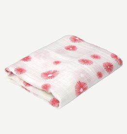 Oliver & Rain Pink Floral Organic Swaddle