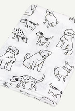 Oliver & Rain Dog Print Organic Swaddle