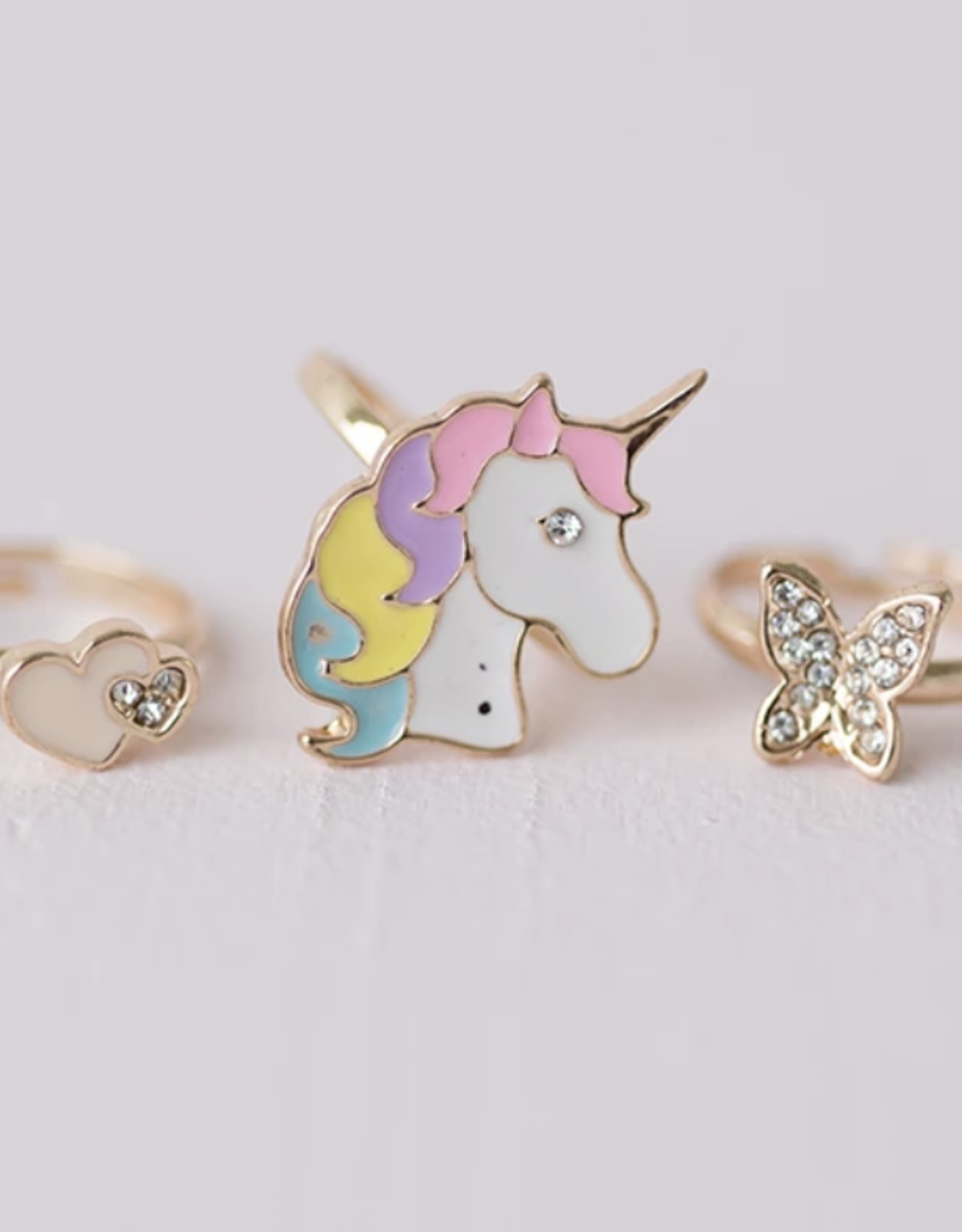 Great Pretenders Butterfly+Unicorn Ring Set, 3 pcs