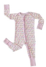 Little Sleepies Pastel Rainbow Convertible Romper/Sleeper