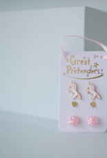 Great Pretenders Unicorn Studded Earrings, Set of 3