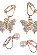 Great Pretenders Butterfly Clip-On Earrings, Set of 2