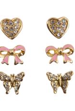 Great Pretenders Dazzle Studded Earrings, set of 3