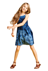 For All Seasons For All Seasons Tie Dye Print Dress with Lace Trim