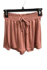 For All Seasons Elastic Waist Shorts, Blush