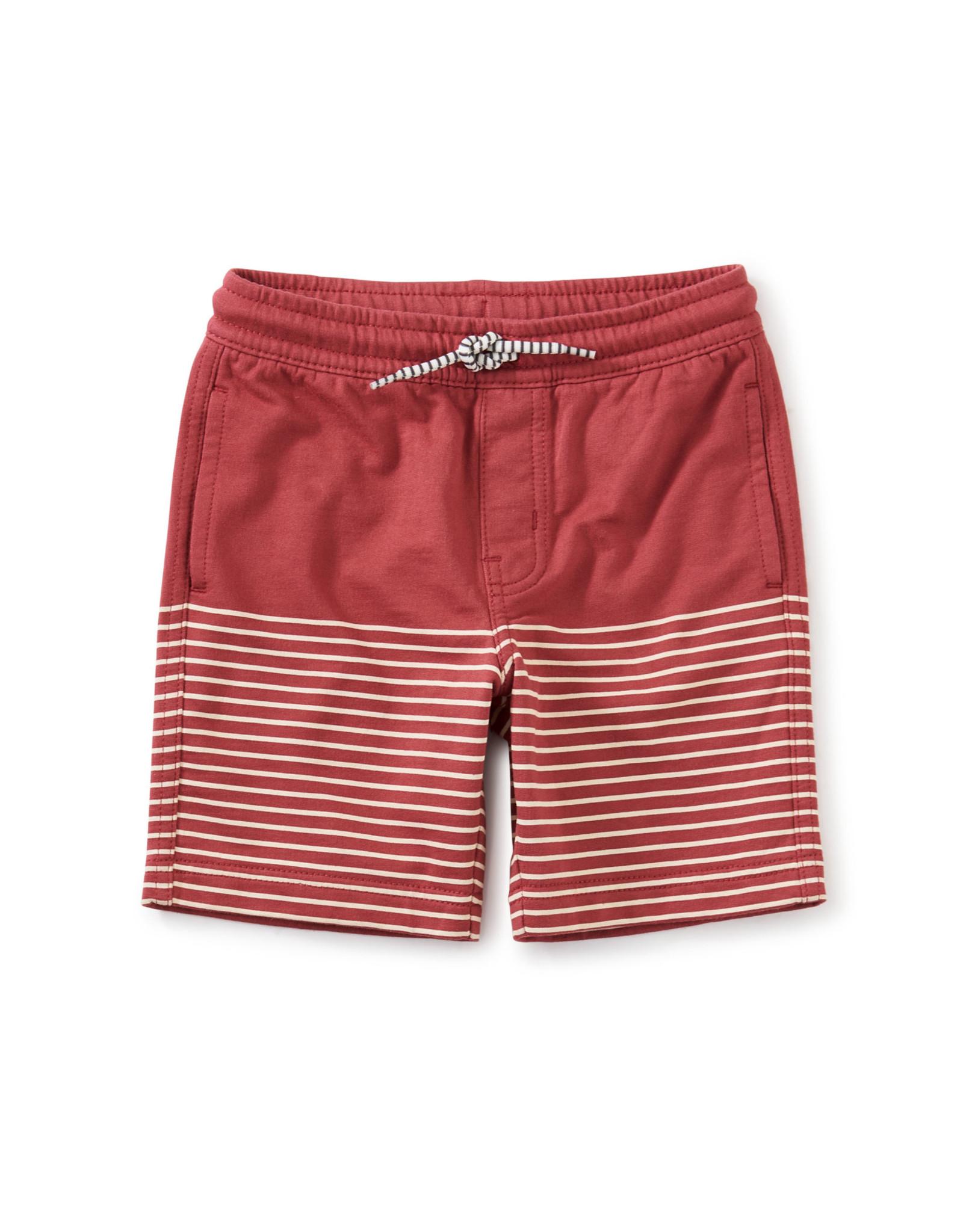 Tea Knit Beach Shorts, Earth Red