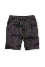 Tea Printed Knit Gym Shorts, Bull Shark
