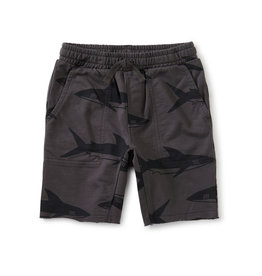 Tea Printed Knit Gym Shorts, Bull Shark