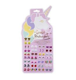 Great Pretenders Unicorn Stick On Earrings
