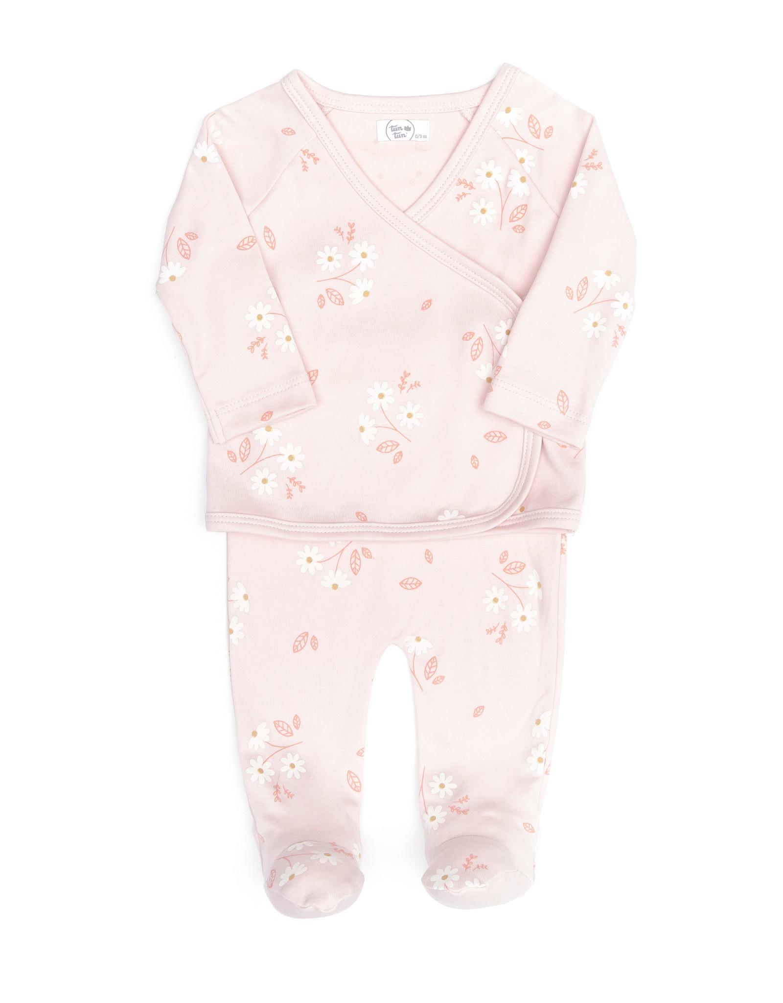 Tun Tun Tun Tun Kimono Set, Pink Daisies