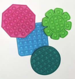 Komarc Games Pressit! Popper Fidget Toy, Pink Hexagon