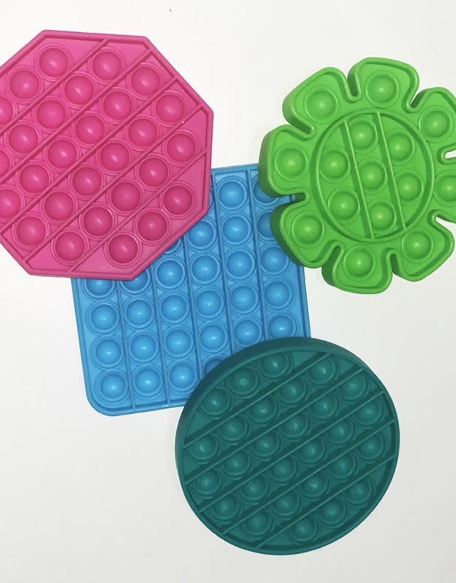 Komarc Games Pressit! Popper Fidget Toy, Blue Square