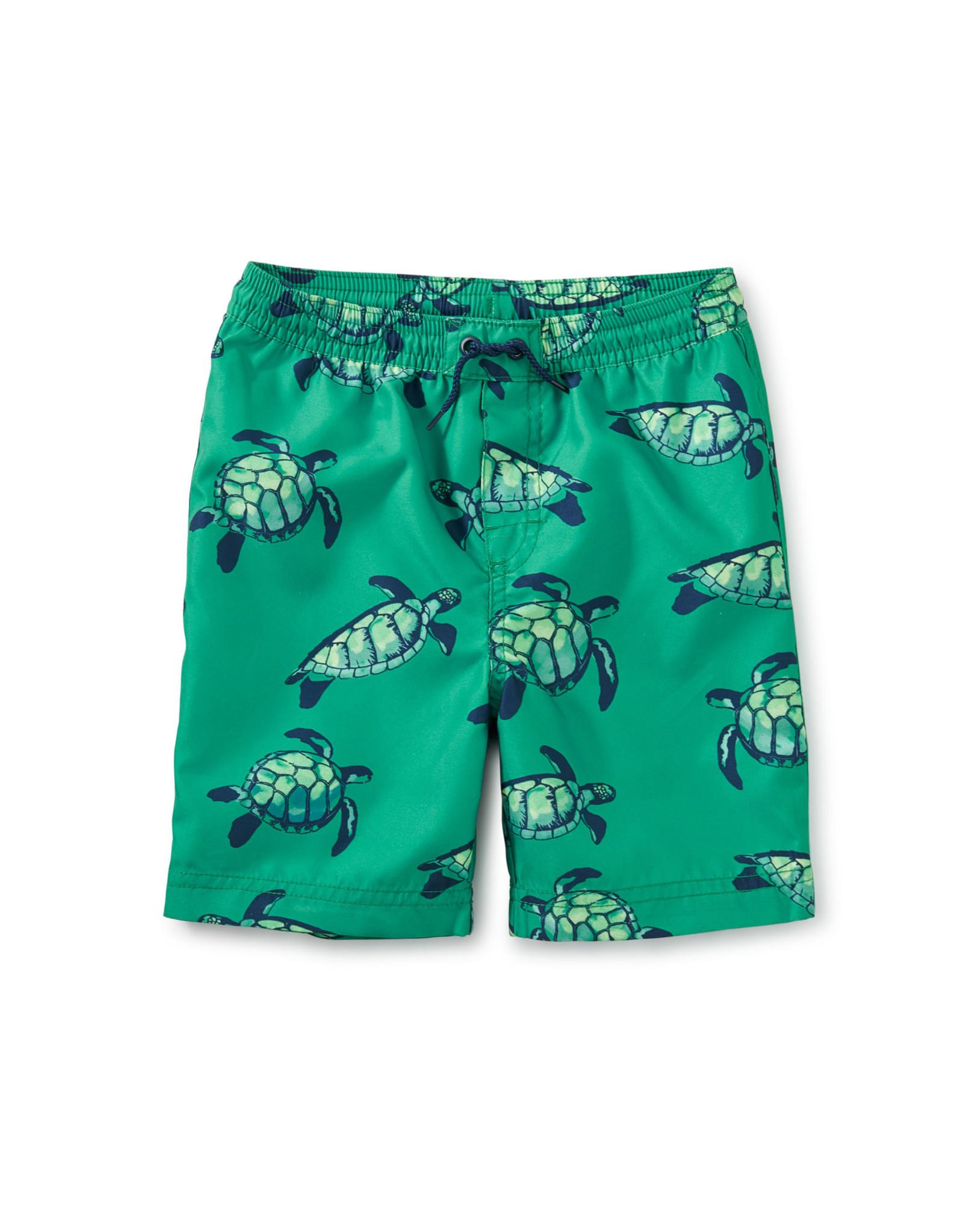 Tea Full Length Swim Trunks, Sea Turtles