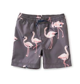 Tea Mid-Length Swim Trunks, Flamingo Resort
