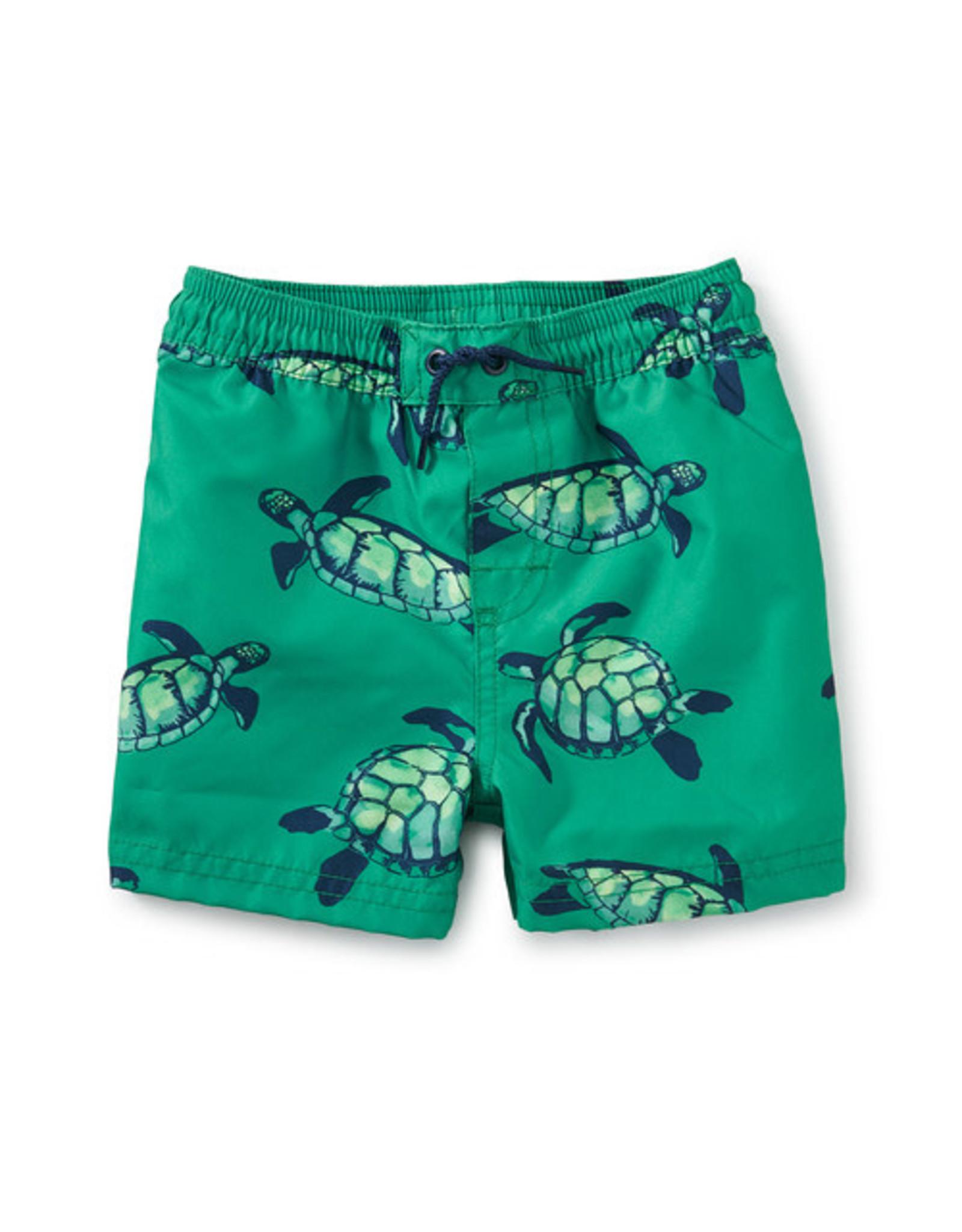 Tea Full Length Baby Swim Trunks, Sea Turtles