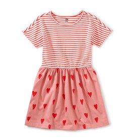 Tea Print Mix Twirl Dress, Sweethearts in Mauveglow