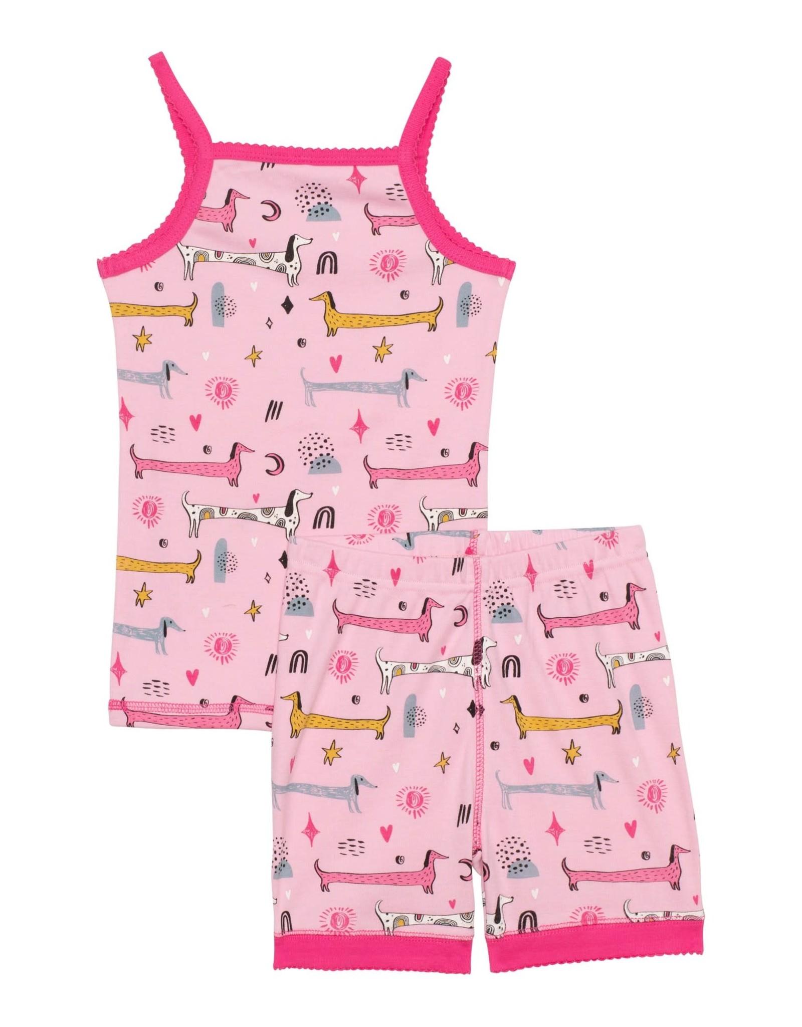 Deux par Deux Organic Cotton Dog Print 2 pc Pajama