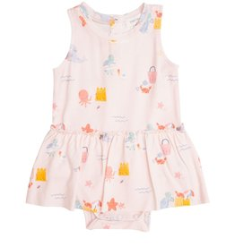 Angel Dear Sandcastle Bodysuit with Skirt, Pink