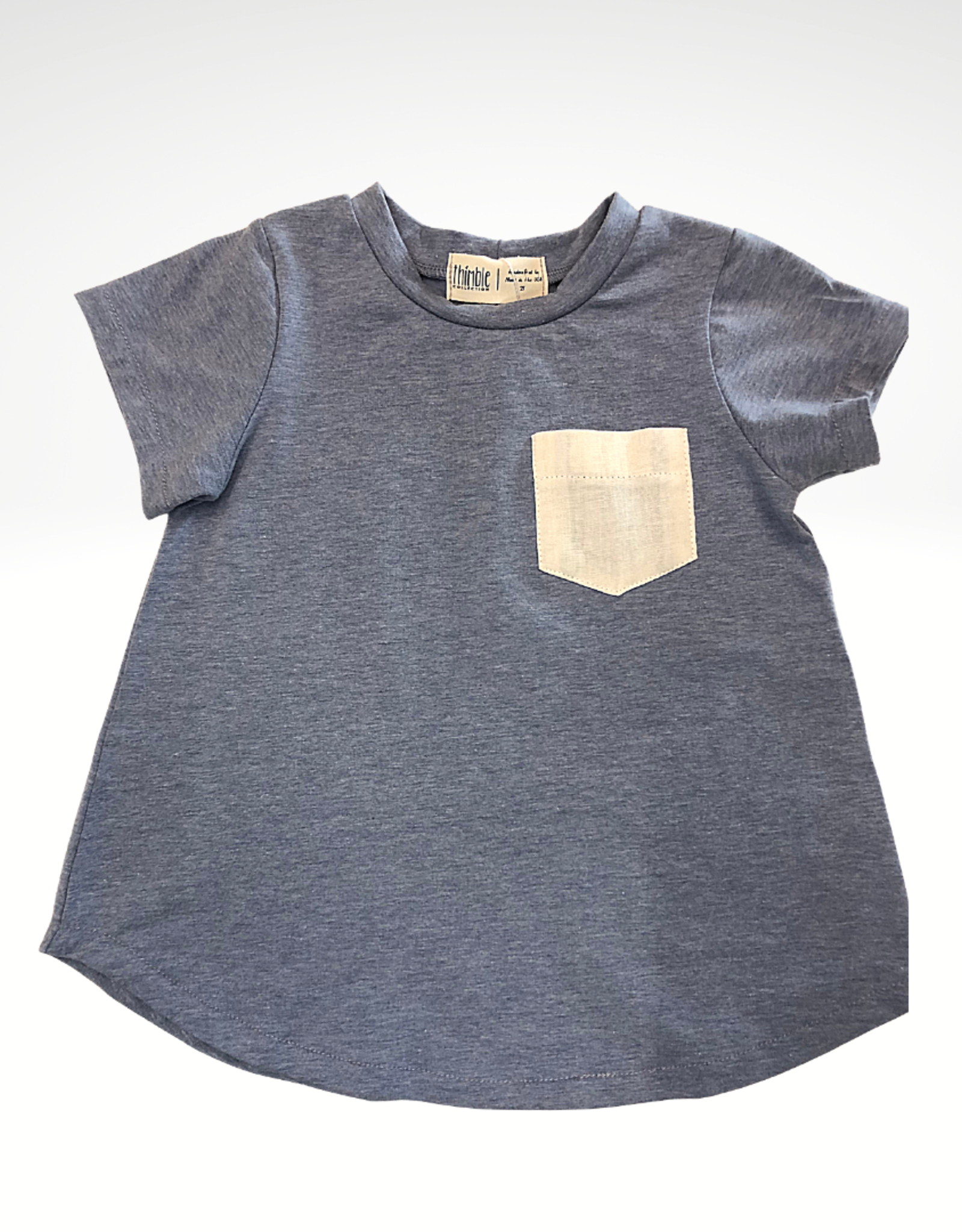 Thimble Collection Pocket Tee, Periwinkle