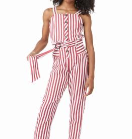 Habitual Girl Maddeira Striped Jumpsuit