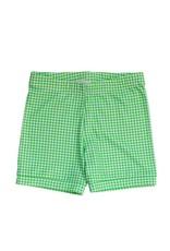 Be Girl Cartwheel Shorties, Green Gingham