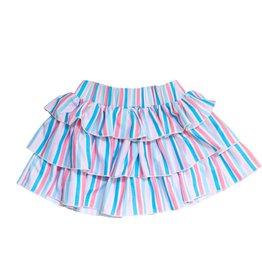 Be Girl Frill & Flounce Skort, Pastel Stripes