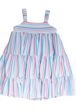 Be Girl Twirler Dress Pastel Stripes