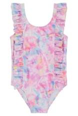 Andy & Evan Ruffle Baby Swimsuit, Tie Dye
