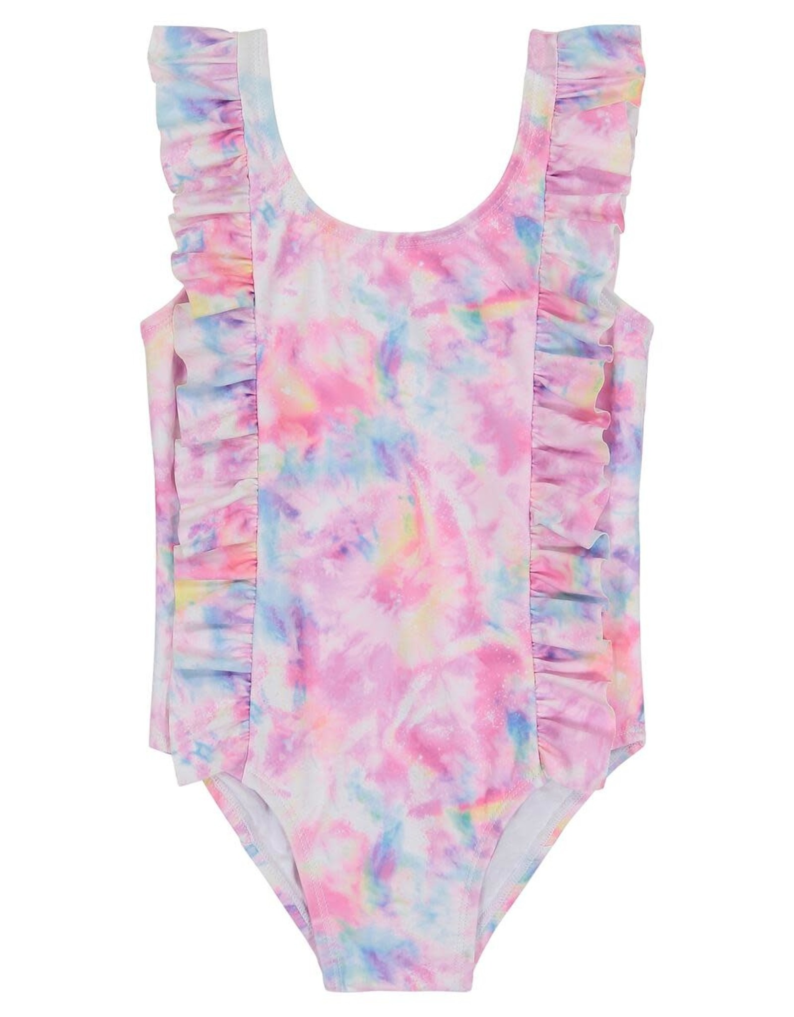 Andy & Evan Andy & Evan Ruffle Baby Swimsuit, Tie Dye