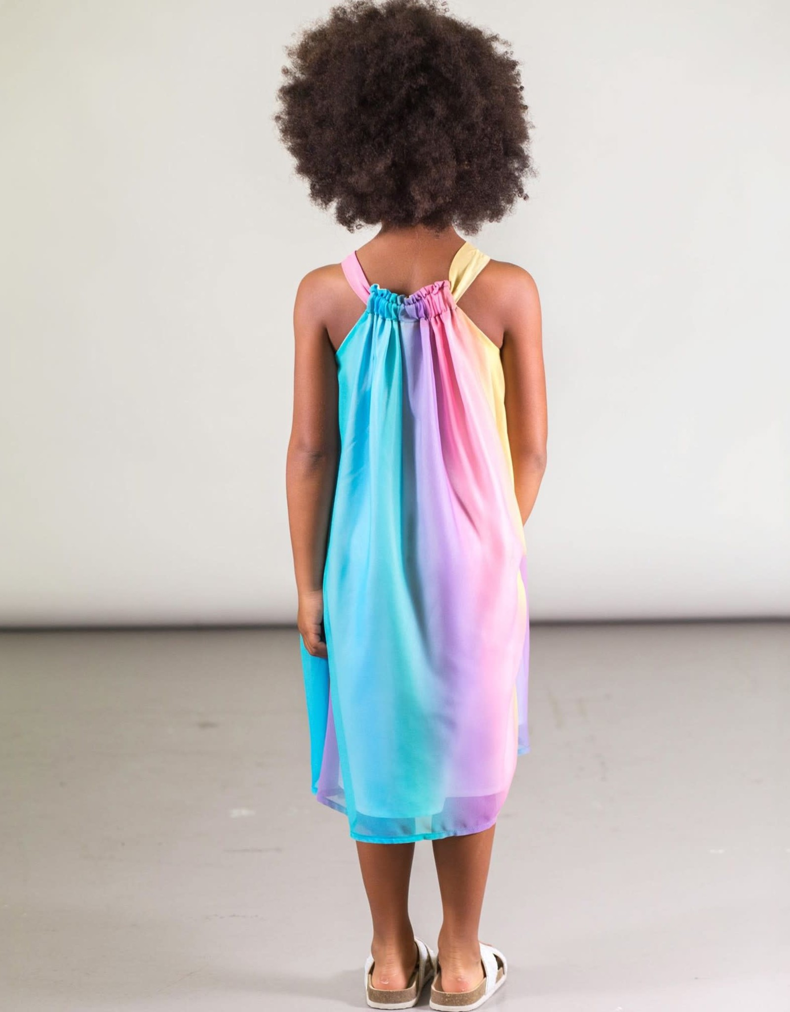 Deux par Deux Rainbow Chiffon Dress